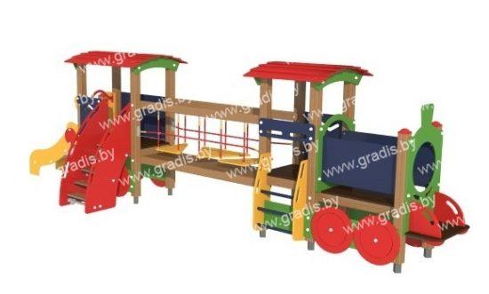 504-03 Паровоз с вагоном