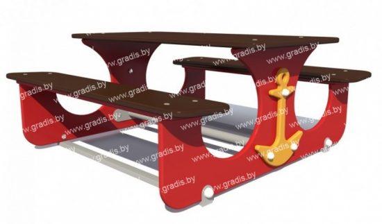 1102 Стол-скамья