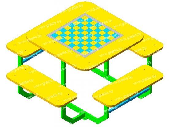 Стол-комби 4 шахматы (детский)